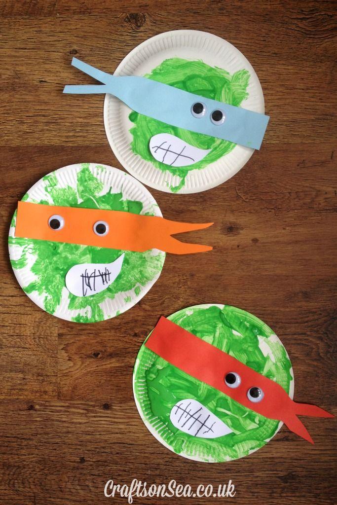 Teenage Mutant Ninja Turtles Paper Plate Craft Ninja Turtle Crafts Ninja Crafts Teenage Mutant Ninja Turtles Crafts
