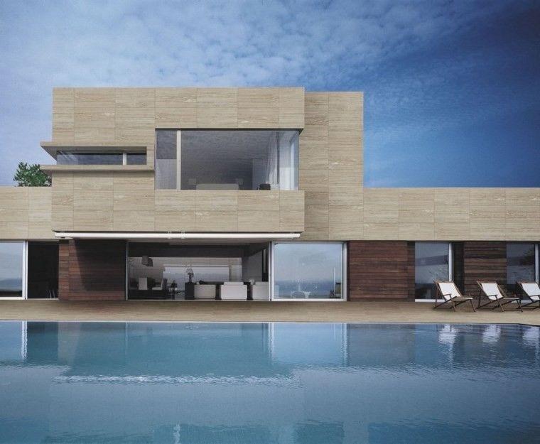 azulejos travertino: 75 ideas de para suelos y paredes | fachada
