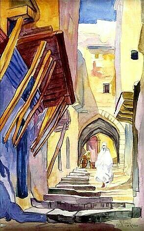 Peinture D Algerie Peintre Francais Rene Hanin 1873 1943