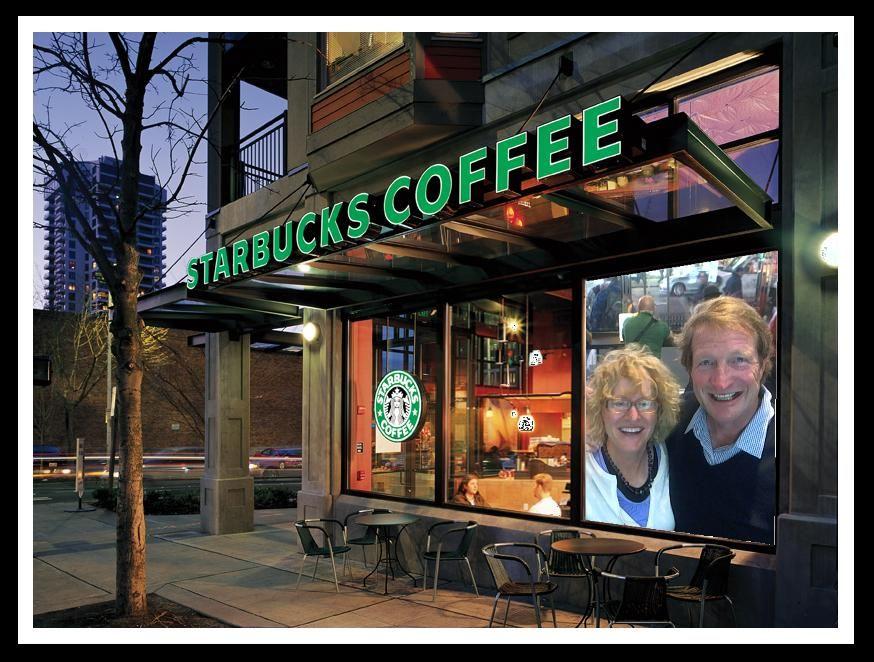 Starbuck Rick & Susan in NYC Starbucks, Starbucks
