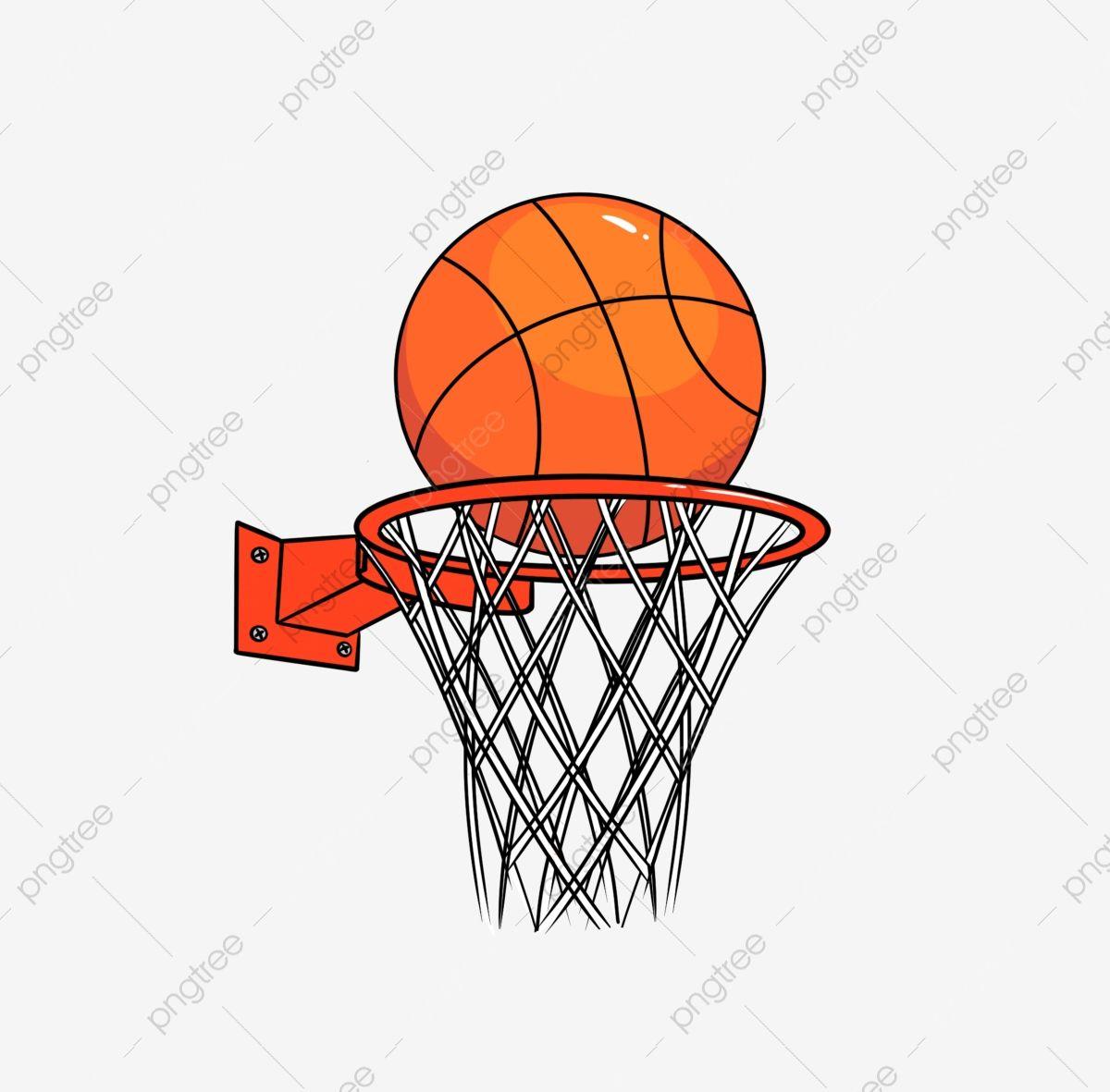 Cartoon Street Basketball Hoop And Orange Ball Street Basketball Basketball Hoop Basketball Drawings