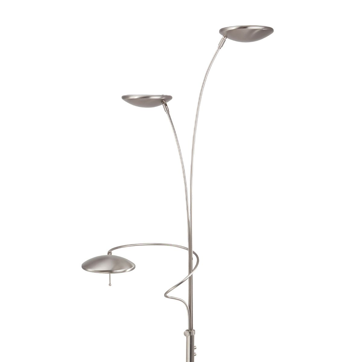 Silberfarbener LED-Deckenfluter Diamond - dimmbar Jetzt bestellen ...