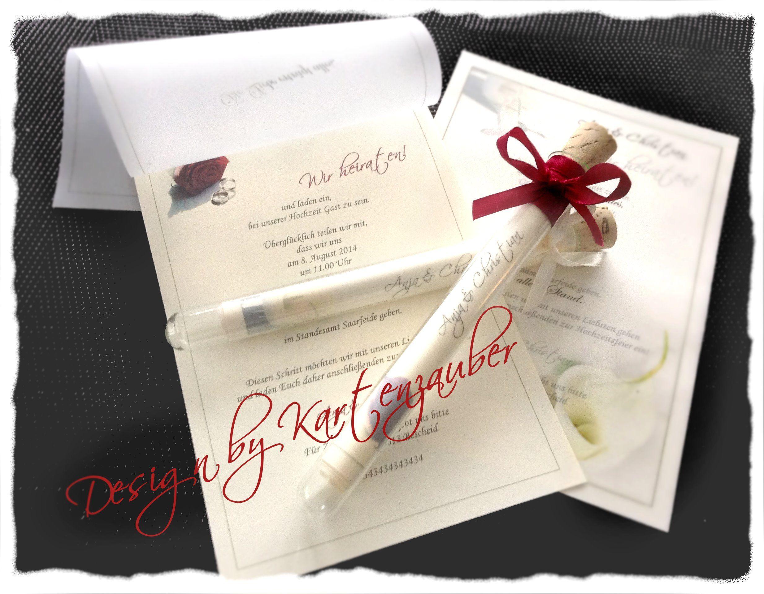 Einladung Im Glas 16 Cm Mit Ihrem Persönlichen Text Model Callas Schleife  Champagner Inhalt Im Glas 2 Blätter Vorne Kalkpapier Hinten Papier ...