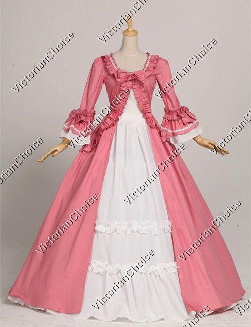 Colonial Renaissance Period Dress Gown Theatre Quality Reenactment ...