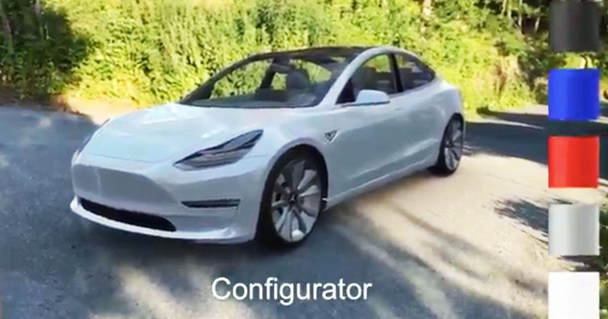 Apple Arkit User Puts A Color Changing Tesla Model In His