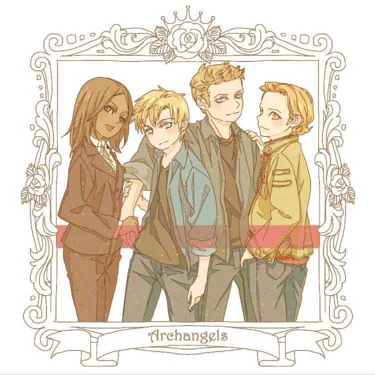Raphael, Michael, Lucifer & Gabriel By Anare On Zerochan