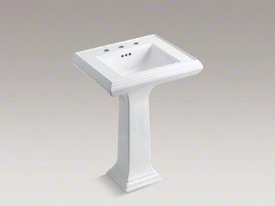 Memoirs Classic 24 Pedestal Bathroom Sink With 8 Widespread