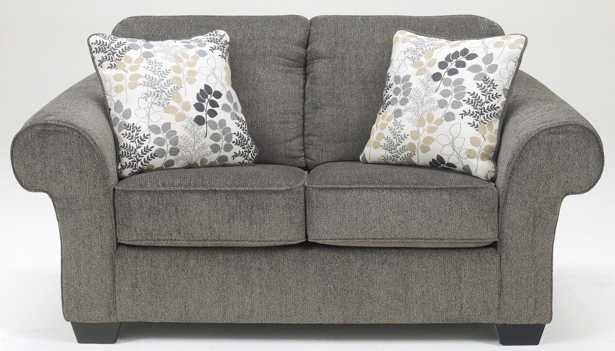 Ashley Furniture Signature Design Makonnen Loveseat Contemporary High Nap Chenille Sofa Charcoal Be Sure To C Love Seat Charcoal Loveseat Ashley Furniture