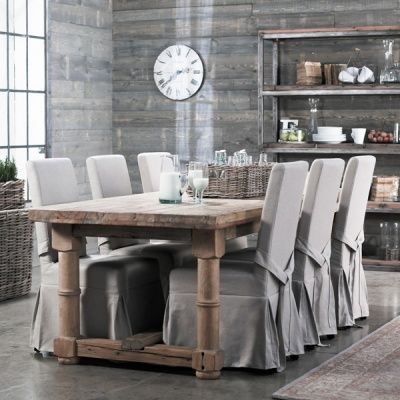 Dining chair slip covers Slip Cover Genius Pinterest Dining