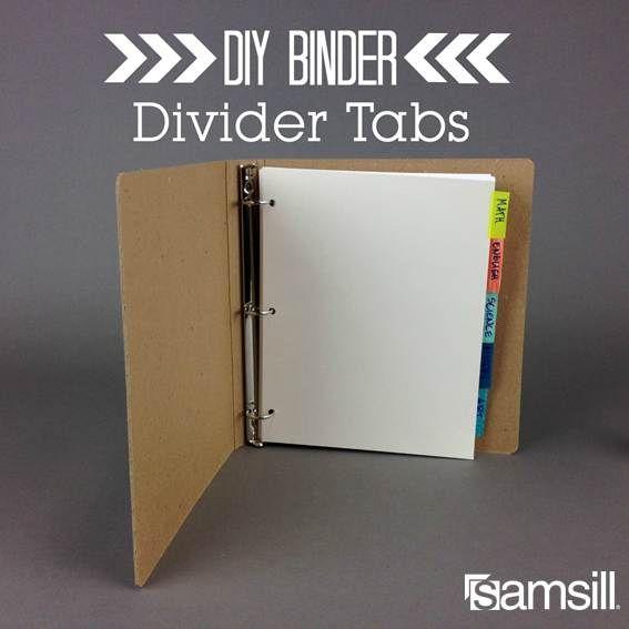 Binder Dividers, Diy School Supplies
