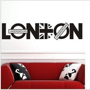 london vinyl art union jack wall sticker home decals quote uk