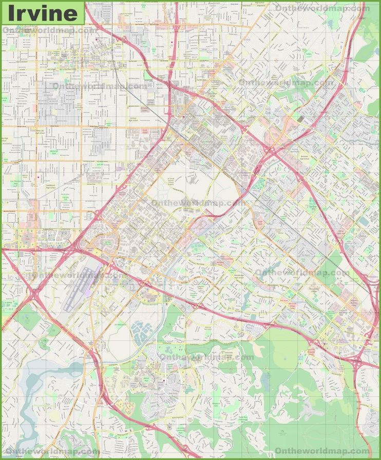 Large detailed map of Irvine Maps Pinterest Usa cities and City