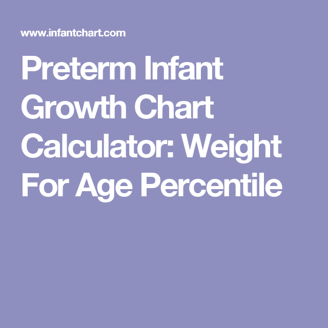 Preterm Infant Growth Chart Calculator Weight For Age Percentile