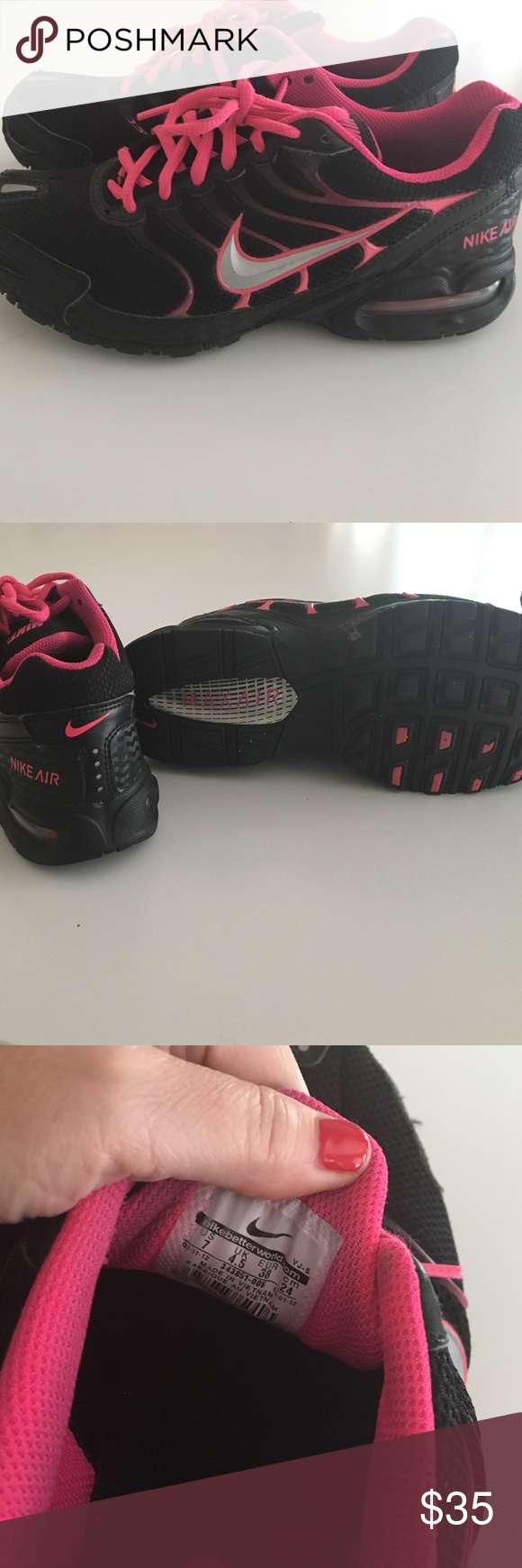 Nike air max torch 4 running shoe - Nike Air Max Torch 4 Running Walking Shoes Great Used Condition Nike Air Max Torch4 Black