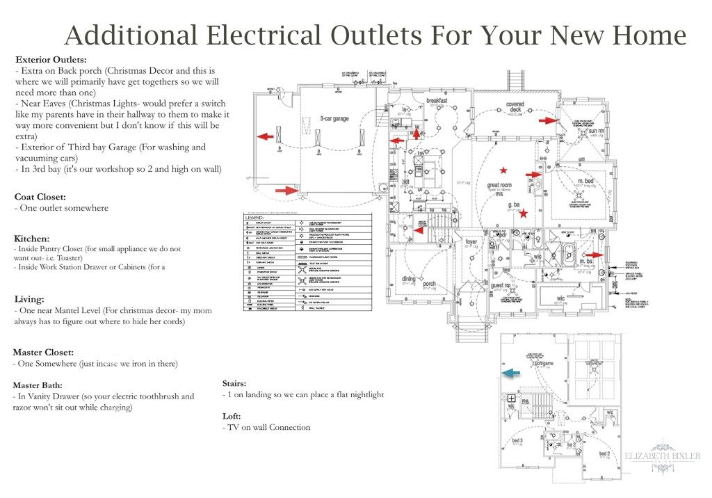 Additional Electrical Outlets New Home Layout Floor Plan Electrical Outlets Home Addition Plans Electrical Plan
