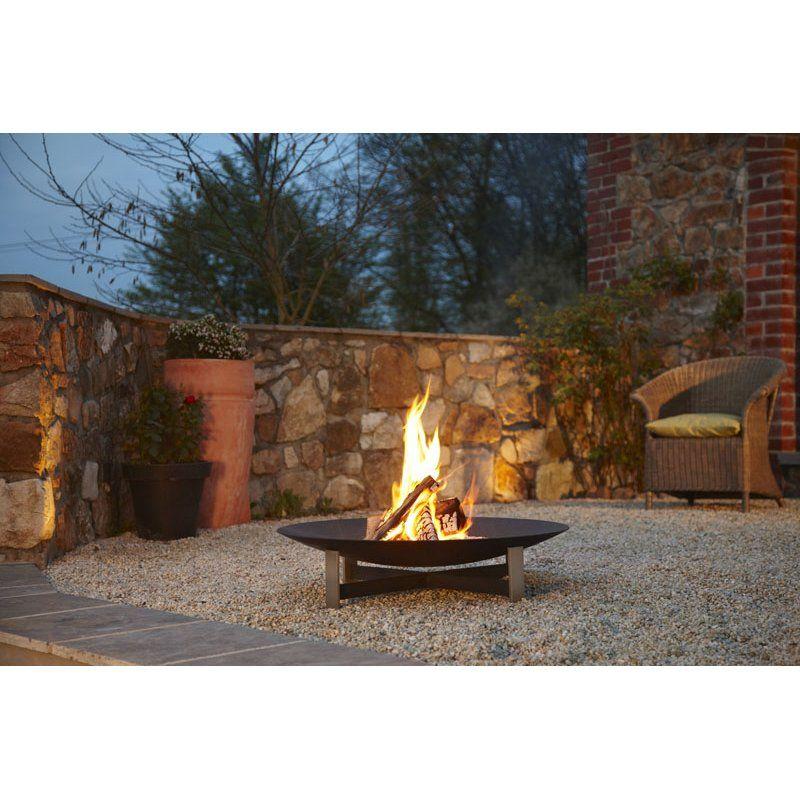 Artepuro Feuerstelle Sunset Durchmesser 120 cm im Garten und