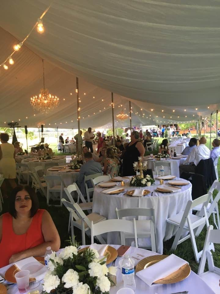 Garden Wedding.  Gold and white.  Blessed Winds weddings
