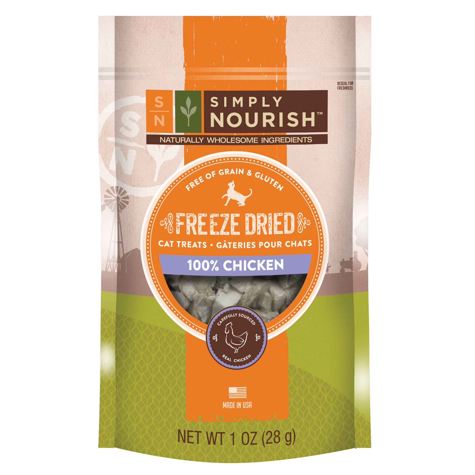 Simply Nourish, Freeze Dried Cat Treat Natural, Chicken