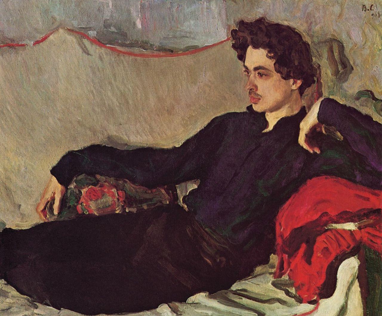 Portrait of Nikolay Pozniakov Valentin Serov 1908