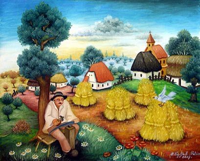 Naive Art Is A Classification Of Art That Is Often Characterized By A Childlike Simplicity In Its Subject Matter And Technique Wh Naive Art Art Naive Painting