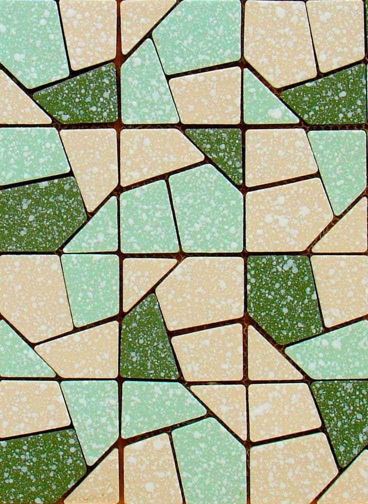 Mid Century Modern Vintage Mosaic Tile