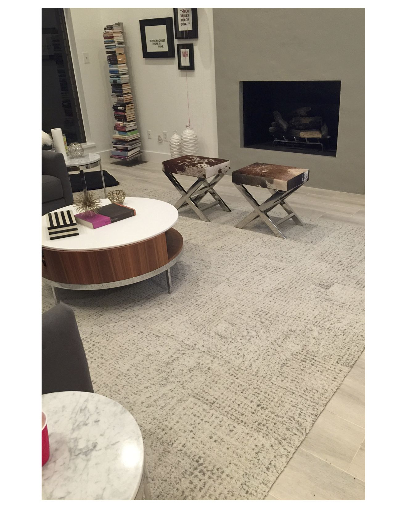 Its snow problem in bone looks stunning in this living room flor our modern carpet tiles allow you to create custom unique area rugs that are as durable as they are stylish design your perfect rug with flor dailygadgetfo Images