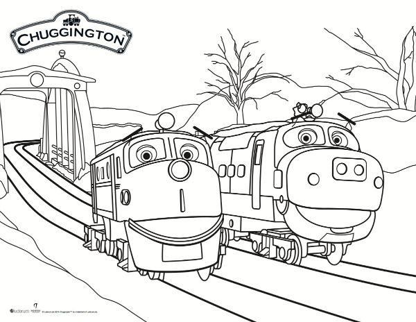 Chuggington snow rescue coloring page