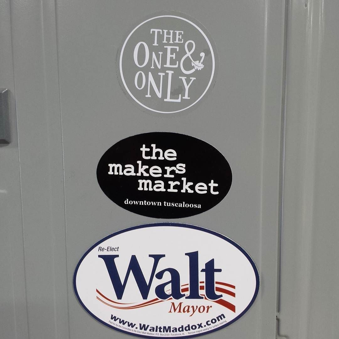 We've got @WaltMaddox magnets! Come get one! #OneAndOnly #themakersmarket #Tuscaloosa #RollTide #Bama  #fb