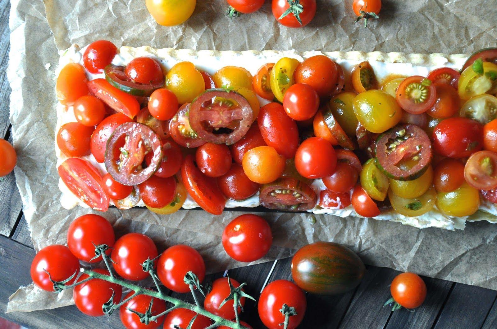 Krümelkreationen: Tomatentarte mit Ricotta