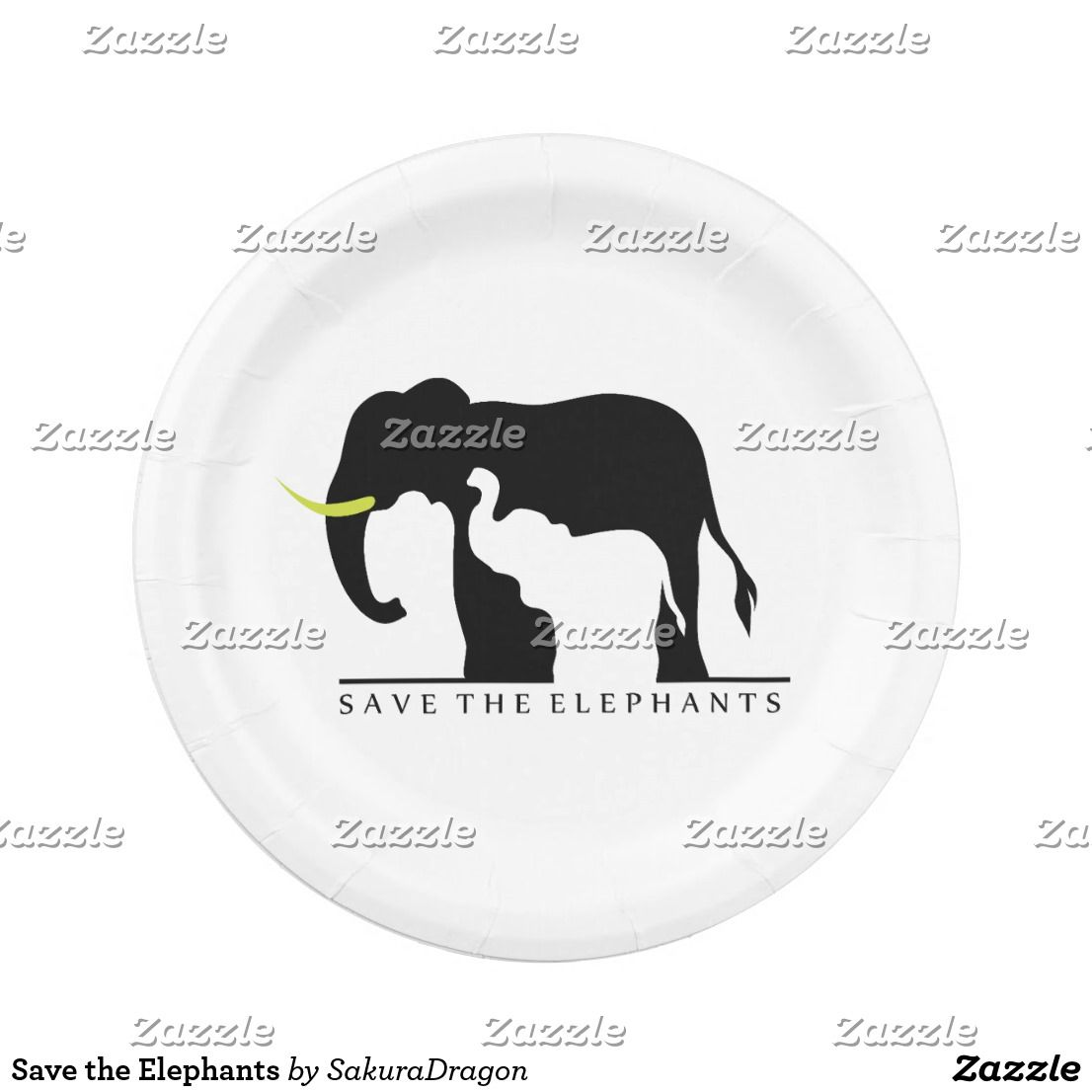 Save the Elephants Paper Plate  sc 1 st  Pinterest & Save the Elephants Paper Plate | Africa The ou0027jays and Paper