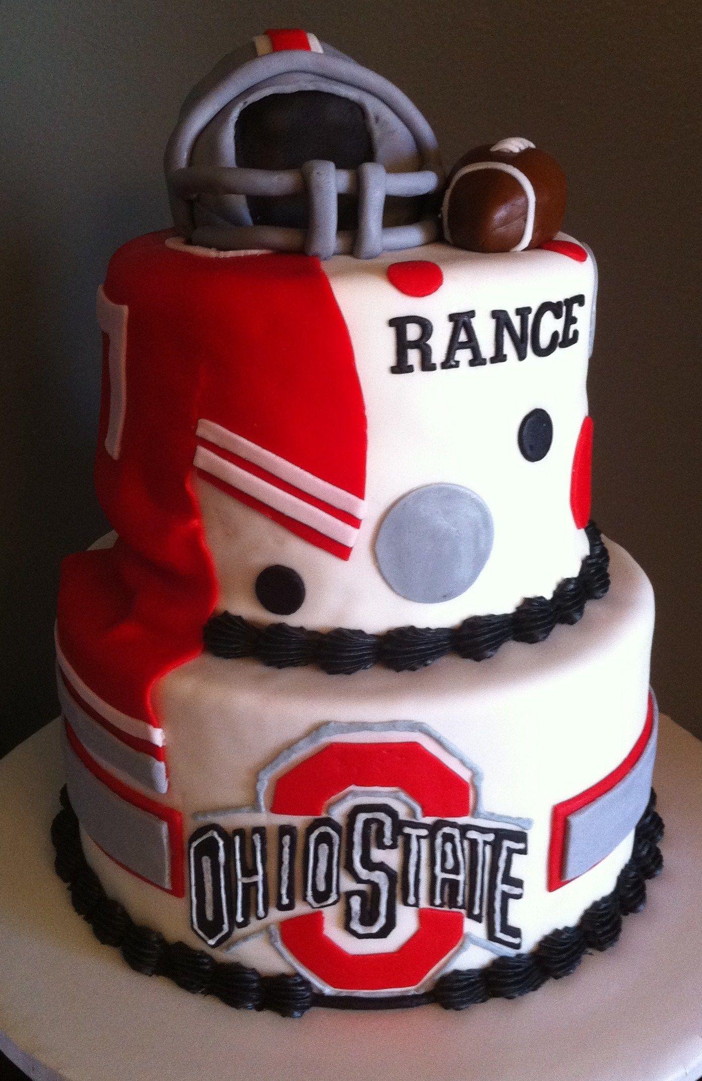 Ohio State Birthday Cake Ohio State Cake Ohio State Football