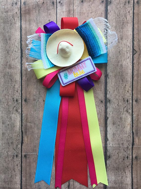 Baby Shower Corsage Fiesta Baby Shower Mommy To Be Corsage