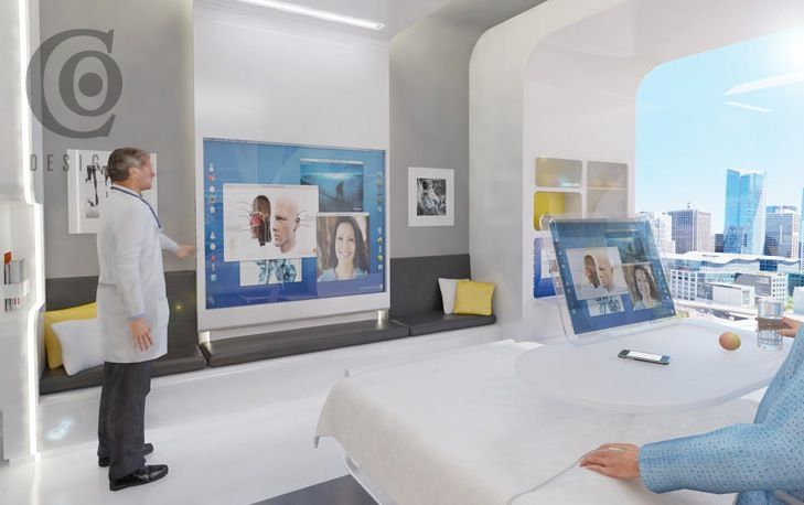 Hospitals of the future hospital room of the future for for Future bedroom ideas