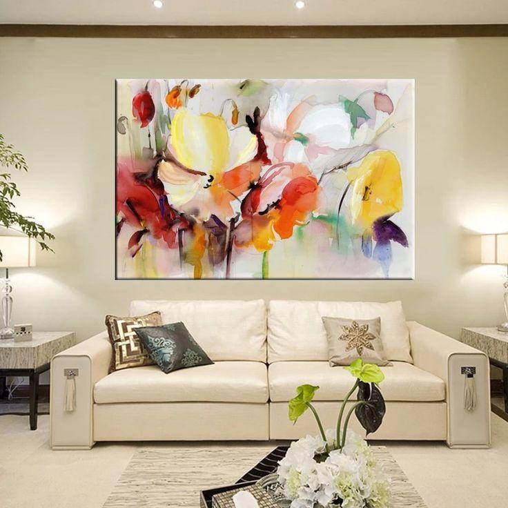 Moderner Blumenaquarell Wandkunst Bunter Mohnblumen Blumen Kunst Leinwand Druck In 2020 Wandkunst Diy Blumen Aquarell Kunst Furs Wohnzimmer