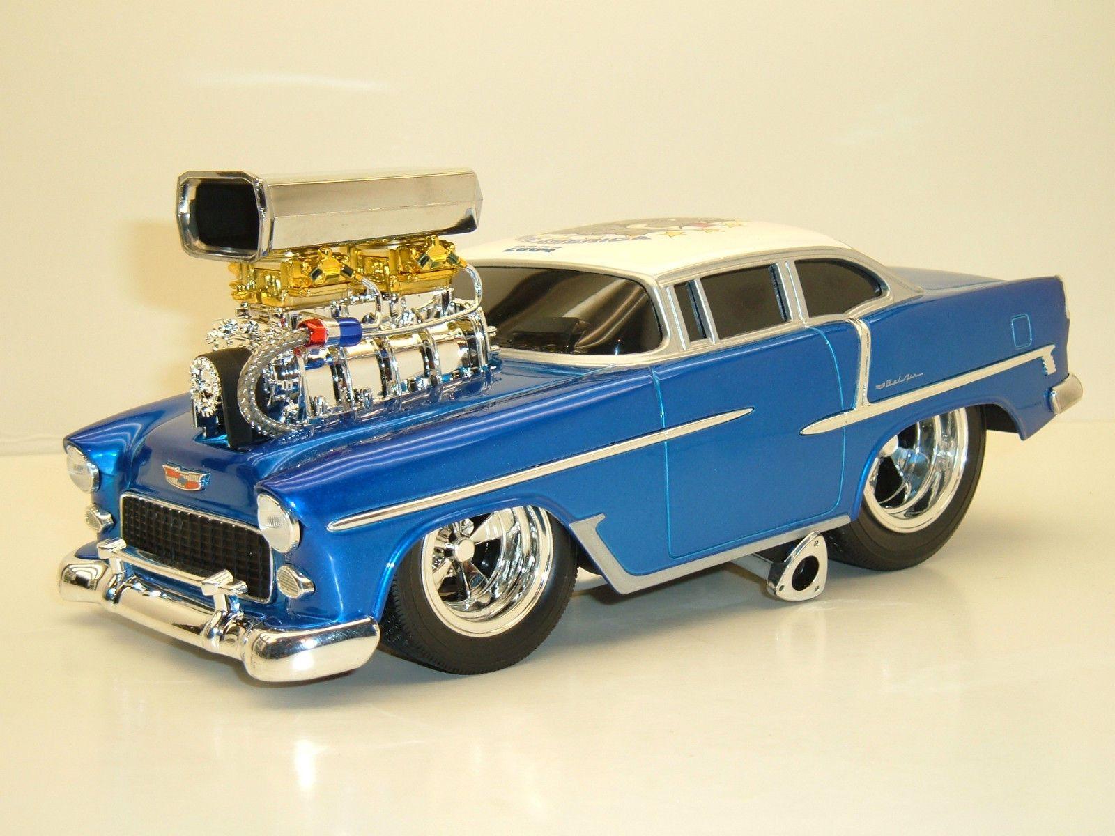 Custom 1955 Chevy Bel-Air Muscle Machines 1;18 scale diecast model ...