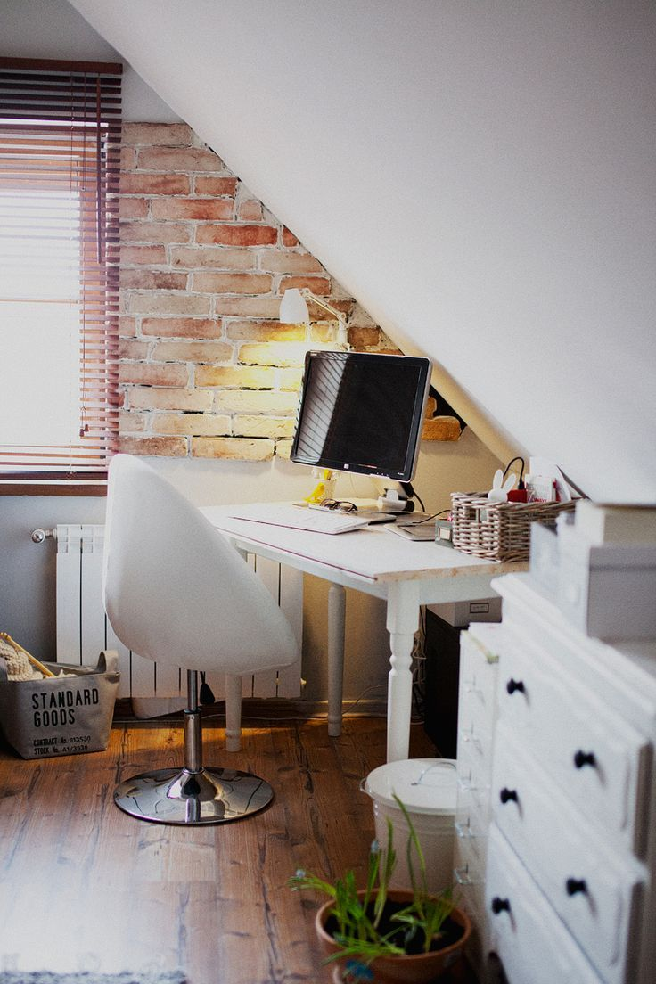 15 Bright Attic Spaces For An Office Or Studio Home Home Office Design Attic Spaces