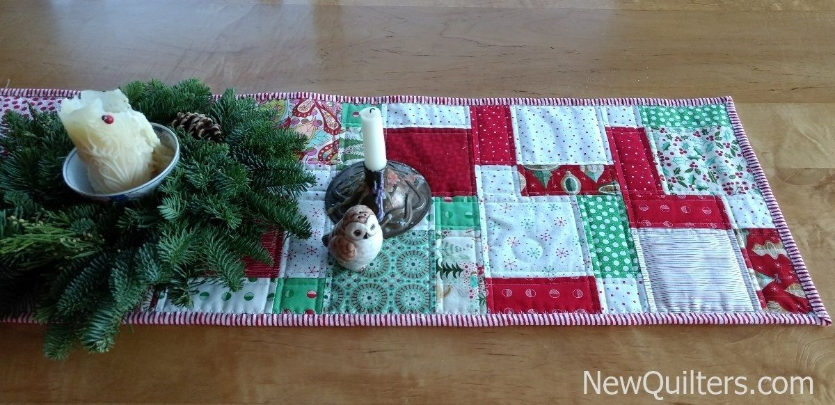 12 Days Of Christmas Quilted Table Runner Tutorial Quilted Table Runners Table Runners Quilted Table Toppers