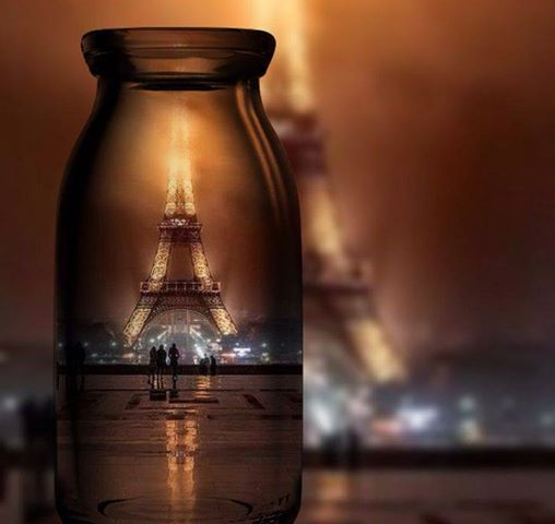Eiffel Tower in a candle light