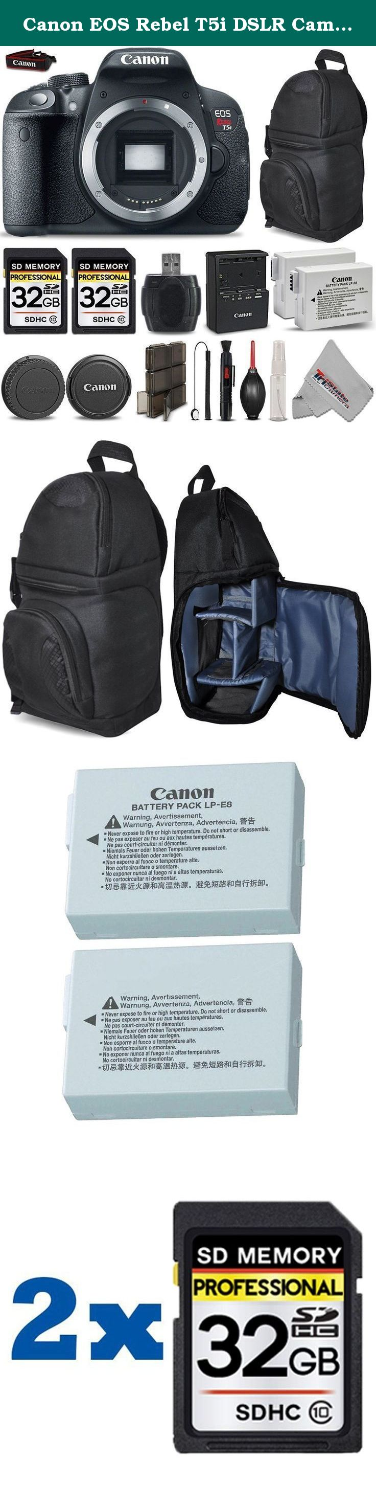 Canon Eos Rebel T5i Dslr Camera Full Hd 1080p 18mp Cmos Body Only 1200d Kit 18 55mm Iii Non Is 64gb Storage Uv Filter Backup Battery Memory Card Case Cleaning