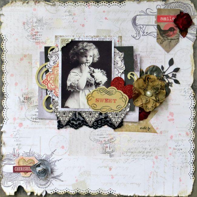 Sweet - Guest DT  Feb.C'est Magnifique - Scrapbook.com
