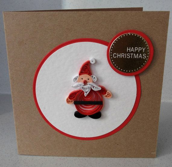 Handmade Christmas Card Quilled Paper Quilling By