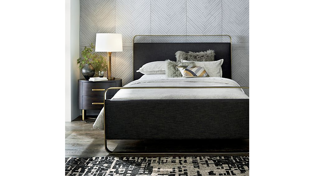 Gwen Metal And Upholstered Bed Crate And Barrel Bed