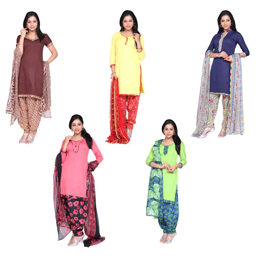 e92fe8fb77dd6 Buy Violet 5 Cotton Unstitched Chudidhar Material @ Rs. 1699/- Free ...