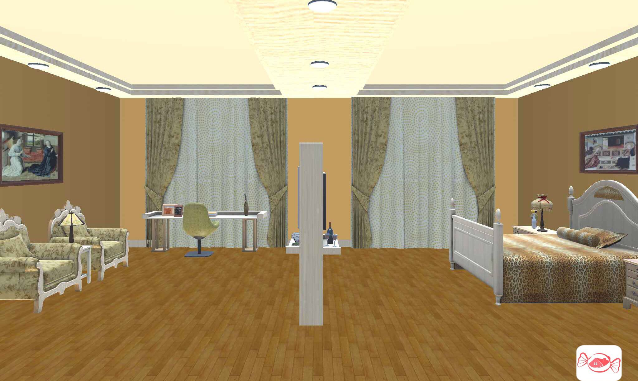 Modern Victorian bedroom created with Home Sweet Home 3D