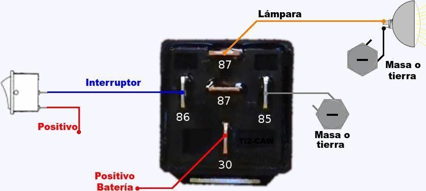 Conectar Relay Automotriz Para Luces Electricidad Y Electronica Instalacion Electrica Proyectos Electricos