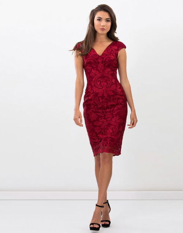 e36c0a509020 Heather Dress. A stunning cocktail dress by Romance the Label. An  embroidered lace style featuring cap sleeves
