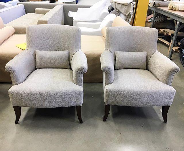 Paris Lounge Chairs In Subtly Textured Larsen Fabric Interior