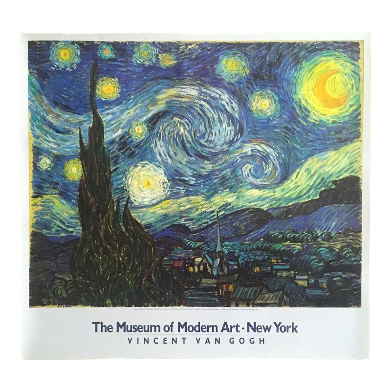 MUSEUM ART PRINT The Starry Night by Vincent Van Gogh 30.5x27 MOMA Poster