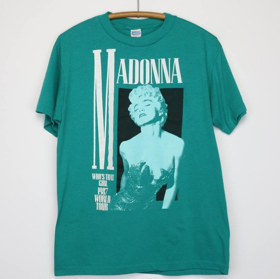 354805caf3c98 Madonna Shirt Vintage tshirt 1987 Who's That Girl World Tour Concert ...