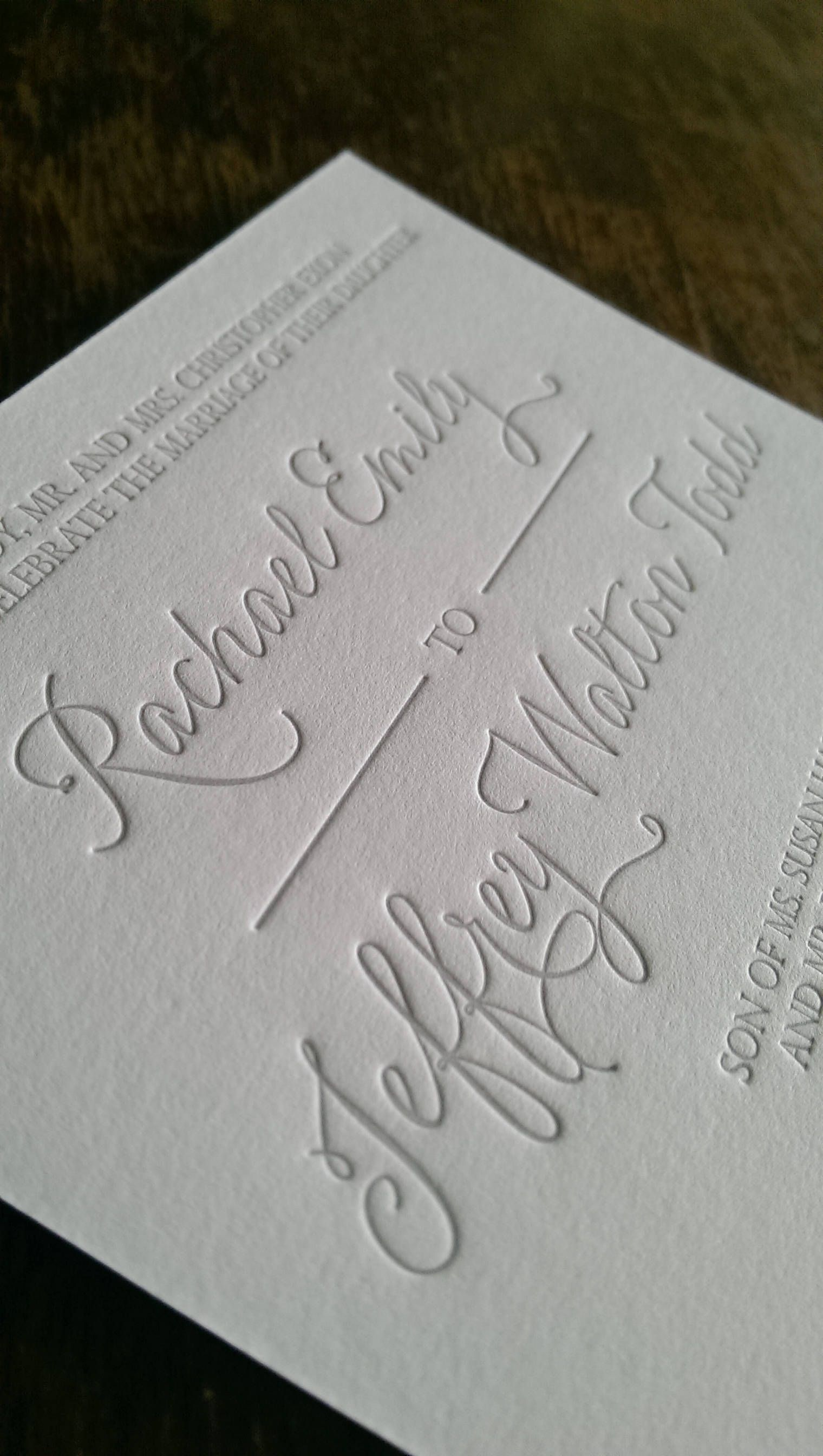 Custom Letterpress Wedding Invitations By Little Hippo Press On Etsy
